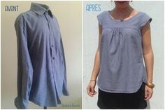 Transformation Recyclage de chemise by Barbara Gourde