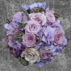 The Grosvenor Street -  lilac roses and hortensia