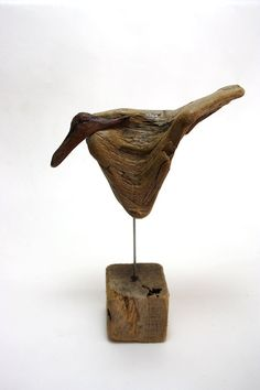 "driftwood sculpture "" bird "" , so lovely... made from natural driftwood... natural piece of art... size 16 cm...one of a kind decoration. $89.00, via Etsy."