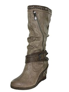 Mustang 1083617, Bottes femme - Marron (318 Taupe),