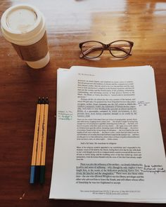 Coffee, glasses, and editing...the life of a writer
