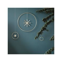 Ferm Living Winterland brass star, large