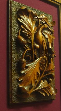 Decorative Panel Tree Leaves Branches Bird 2