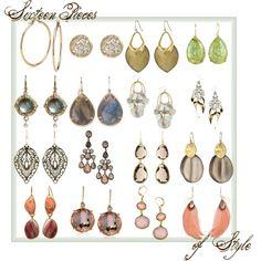 """Soft Autumn Earrings"" by nelea on Polyvore"