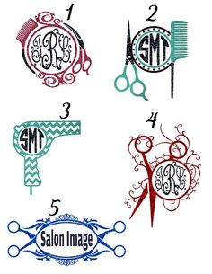 Custom Hair Stylist Glitter Monogram Car Decal by AbbysClosetTX