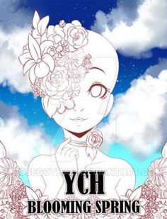 ||YCH Auction|| Blooming Spring (CLOSED) by RoseGotham