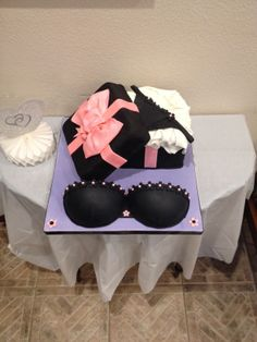 Bridal Shower - Lingerie Bridal shower cake , bra and panty with gift box