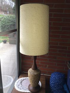 Vintage Mid Century Cork Lamp/ Tall by AtrayalPhotography on Etsy