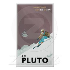 Love this whole series of retro planet prints for my boys' room. (And yes, I know Pluto isn't a planet...)