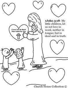"Church House Collection Blog: ""Jesus With Heart"" Valentine's Day Coloring Page"