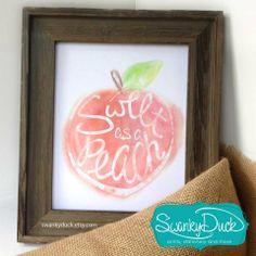 Sweet as a Peach print facebook.com/swankyduck