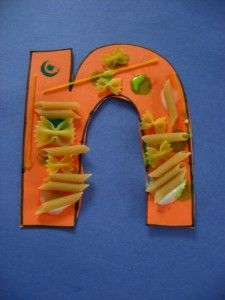 Decorate the letter of the week with objects that begin with that letter.