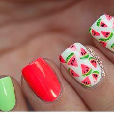 Watermelon Nail Designs Pictures fun watermelon nail designs perfect for summer fashionsy Watermelon Nail Designs. Here is Watermelon Nail Designs Pictures for you. Watermelon Nail Designs, Watermelon Nail Art, Fruit Nail Art, Nail Art Designs, Nail Designs Pictures, Love Nails, Pretty Nails, Fun Nails, Nail Art Blog