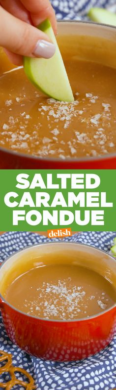 Caramel Fondue Everything tastes better dipped in Salted Caramel Fondue. Get the recipe on .Everything tastes better dipped in Salted Caramel Fondue. Get the recipe on . Brownie Desserts, Oreo Dessert, Mini Desserts, Dessert Dips, Easy Desserts, Delicious Desserts, Dessert Recipes, Yummy Food, Fondue Recipes