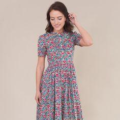 Floral print kleid liberty etsy