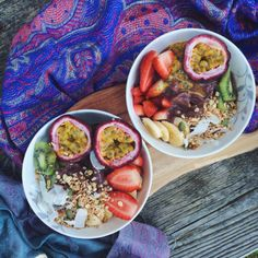Breakfast bowl #granola #fruit #vegiyoghurt