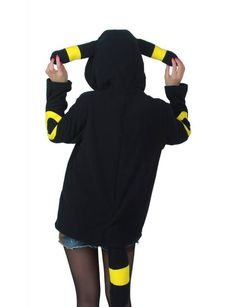Pokemon Umbreon Hoody with Ears & Tails