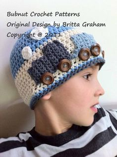 Easy Peasy Crochet Train Hat  - my little boy would love this...another project to add to the list :)