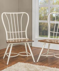 $139.99 Love this White Longford Industrial Dining Chair - Set of Two on #zulily! #zulilyfinds