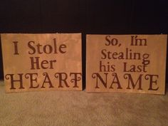 Wedding or Engagement Picture Signs by PrestonEventPlanning