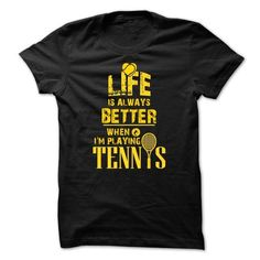 TENNIS - LIFE IS BETTER WHEN... - #gifts for girl friends #gift friend. LOWEST PRICE => https://www.sunfrog.com/Sports/TENNIS--LIFE-IS-BETTER-WHEN.html?68278