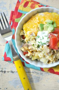 Lightened-Up Mexican Breakfast Casserole