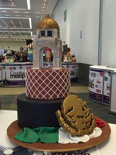 pastel fiestas patrias  MONUMENTO A LA REVOLUCION  mexipan 2016