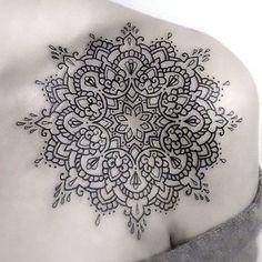 Mandala Tattoo on Collar Bone Tattoo Idea