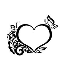 Picture consequence for coloring drawings Vector Preto E Branco Obtain Wedding Card Design Indian, Wedding Logo Design, Tattoo Sketches, Tattoo Drawings, Wedding Symbols, Heart Doodle, Tattoo Zeichnungen, Black And White Heart, Colorful Drawings