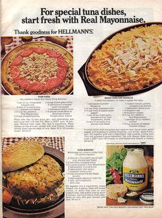 A Hellmann's ad featuring not just one but THREE recipes that will probably give you explosive diarrhea.
