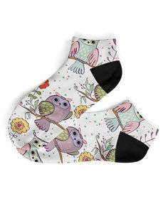 This Sage & Lavender Owl Ankle Socks is perfect! #zulilyfinds