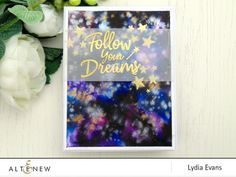 Do you love stars? Now you can create a fun water color galaxy sky card with golden stars. Follow our blog to learn more about making this beautiful craft. http://altenewblog.com/2016/11/28/stamp-focus-happy-dreams-stamp-set/