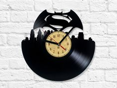 Vinyl Clock - Batman v Superman: Dawn of Justice