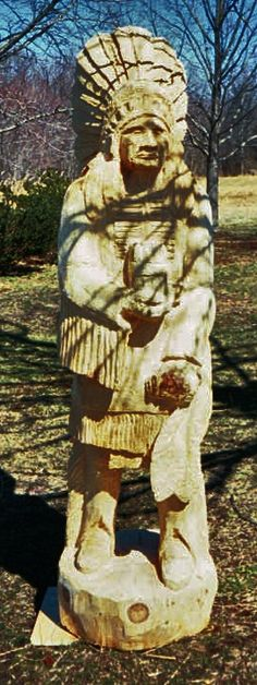 native american indian chainsaw carving by artist store. Black Bedroom Furniture Sets. Home Design Ideas