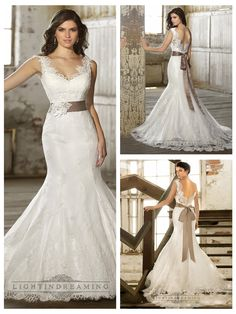 Straps V-neck Trumpet Lace Wedding Dresses with Deep V-back http://www.ckdress.com/straps-vneck-trumpet-lace-wedding-dresses-with-  deep-vback-p-484.html  #wedding #dresses #dress #lightindream #lightindreaming #wed #clothing   #gown #weddingdresses #dressesonline #dressonline #bride