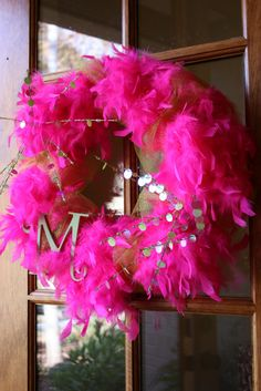Boa wreaths WHY NOT? :)