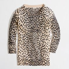 Factory Charley sweater in leopard - Sweaters - FactoryWomen's New Arrivals - J.Crew Factory