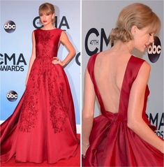 A-Line Strapless Slit Long Prom Dresses with Pockets, Simple Formal Party Dresses - Fashion Taylor Swift Moda, Taylor Swift Style, Oscar Dresses, Gala Dresses, Pretty Dresses, Beautiful Dresses, Vestidos Oscar, Red Colour Dress, Mode Vintage