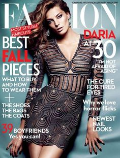 awesome  Fashion Outubro 2013 | Daria Werbowy [Capa]