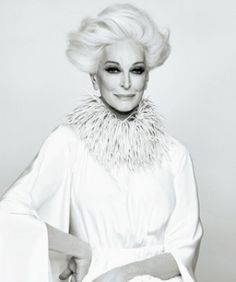 The incomparable Carmen Dell'Orefice.