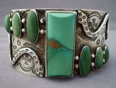 Turquoise & Silver Cuff