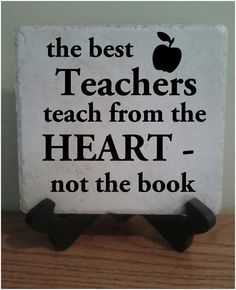 Ceramic Tile with vinyl lettering 6x6 Teacher by StoneEffectsMD, $12.50