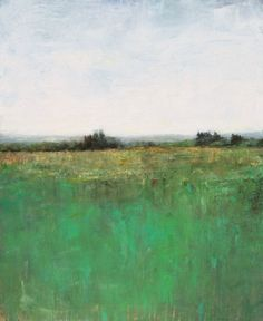 Distant Field by Don Bishop 4.18.2015 Minimalist abstract landscape acrylic painting.  Acrylics on panel, 24x30x1.5 inches; signed in front. Sold unframed @ $700  This bright landscape is a recent plein air piece c...
