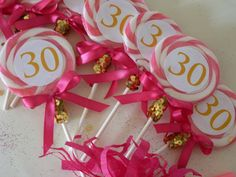 Items Similar To Lollipop Party Favor Colorful Candy Favors 30th Birthday Adult Swag Bag Pink Gold Buffet On Etsy