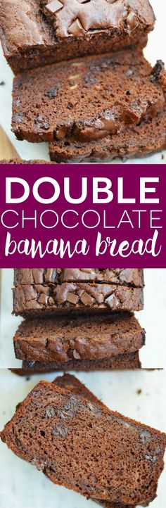 Double Chocolate Banana Bread (gluten free and dairy free) from What The Fork Food Blog   whattheforkfoodblog.com