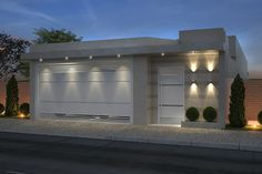 Nothing has refreshed the look of your home like new exterior lights. At Lamps Plus, we provide complete exterior lighting Modern House Facades, House Design, House Entrance, House Front, Modern House, House Exterior, House Gate Design, House Styles, House Designs Exterior
