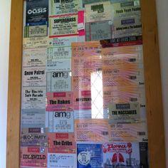 Concert ticket display