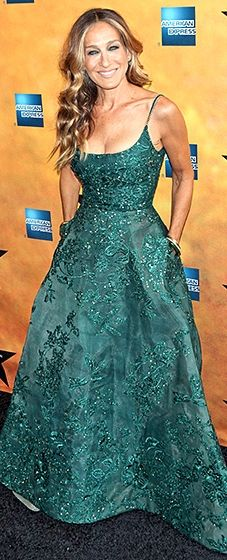 Sarah Jessica Parker in an Elie Saab gown featuring embellishments