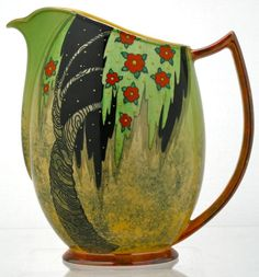 Antique  Carlton Ware Jug in Spangled Tree 4163 Pattern