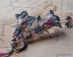 Lucite Earrings Flower Earrings 'Montana by EnglishVintageDesign
